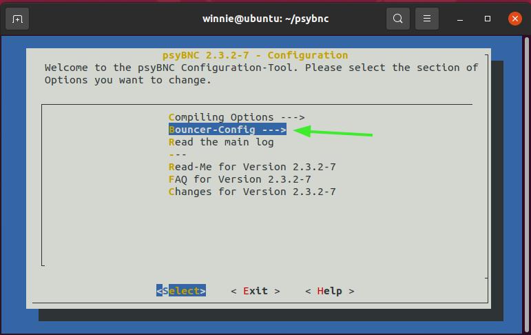 psyBNC configuration