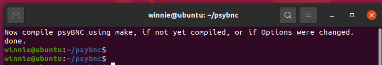compile psyBNC using the make command